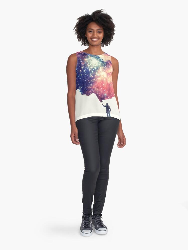 Alternative Ansicht von Painting the universe (Colorful Negative Space Art) Ärmelloses Top