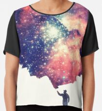 Painting the universe (Colorful Negative Space Art) Chiffon Top
