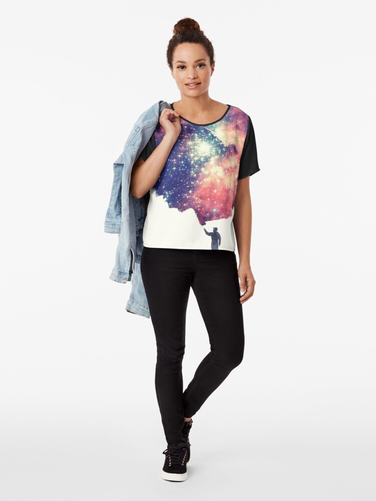 Alternative Ansicht von Painting the universe (Colorful Negative Space Art) Chiffon Top