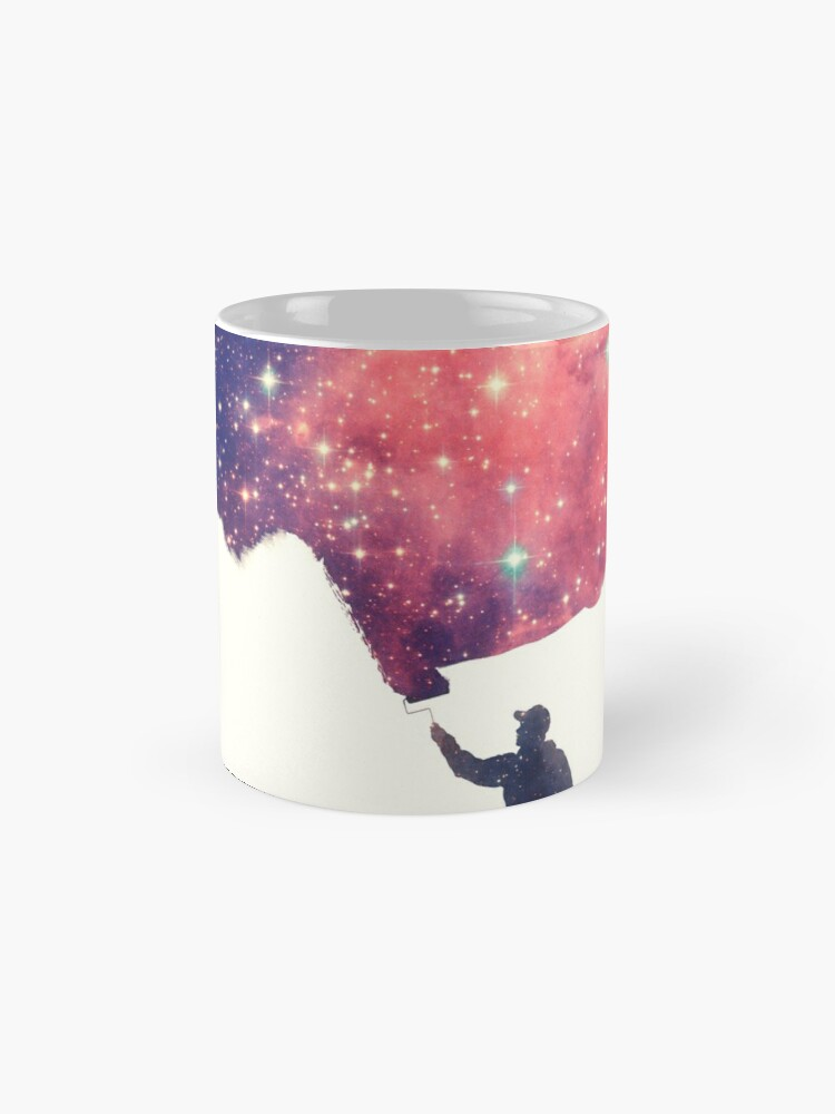 Alternative Ansicht von Painting the universe (Colorful Negative Space Art) Tasse (Standard)