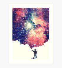 Painting the universe (Colorful Negative Space Art) Kunstdruck