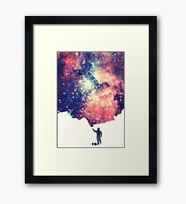Painting the universe (Colorful Negative Space Art) Framed Print
