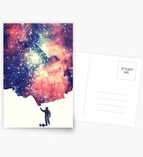 Painting the universe (Colorful Negative Space Art) Postcards