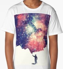 Painting the universe (Colorful Negative Space Art) Long T-Shirt