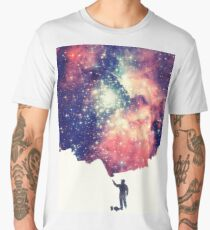 Painting the universe (Colorful Negative Space Art) Men's Premium T-Shirt