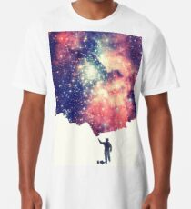 Painting the universe (Colorful Negative Space Art) Longshirt