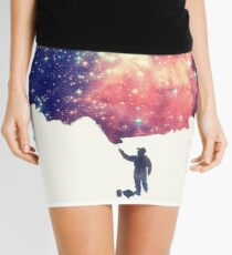 Painting the universe (Colorful Negative Space Art) Mini Skirt