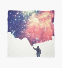 Painting the universe (Colorful Negative Space Art) Scarf