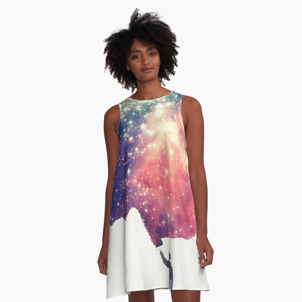 Pintar el universo (arte espacial colorido y negativo) Vestido acampanado