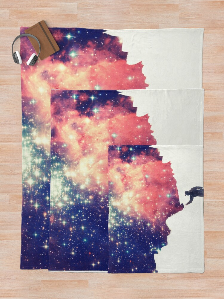 Alternative Ansicht von Painting the universe (Colorful Negative Space Art) Fleecedecke