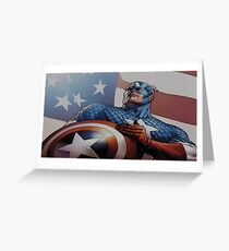 America Captain Greeting Card