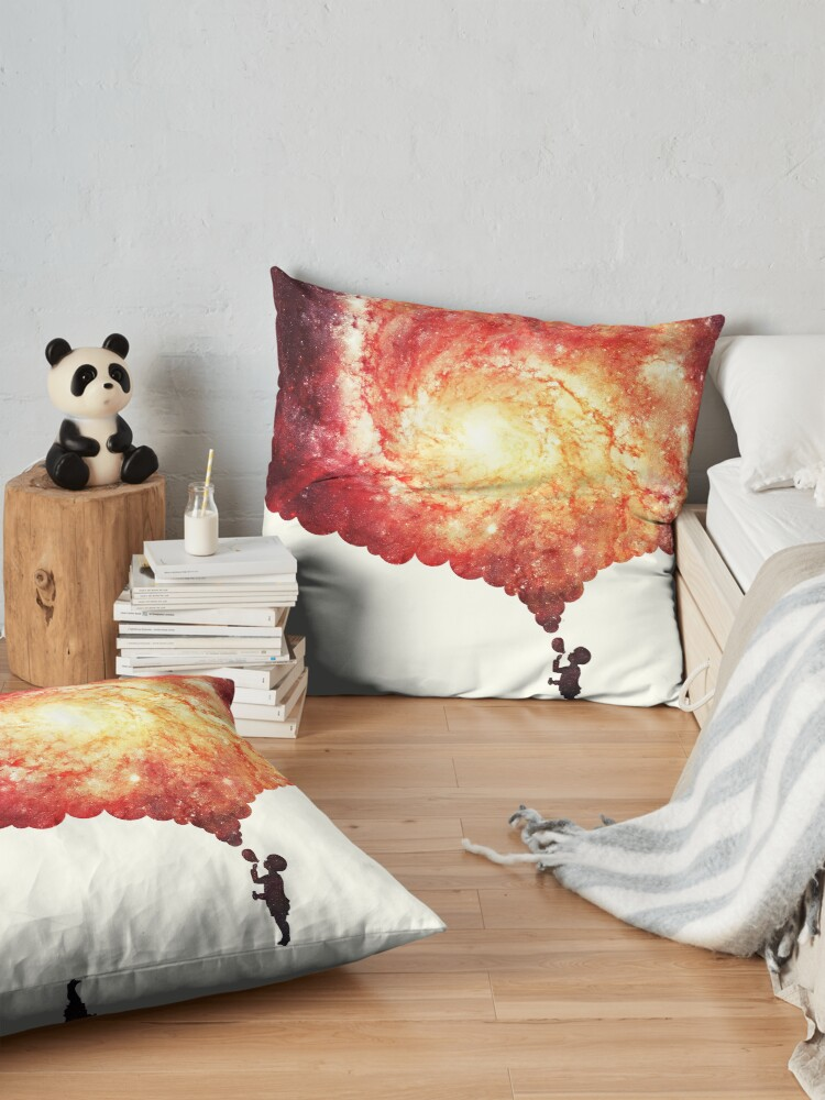 Alternate view of The universe in a soap-bubble! Floor Pillow