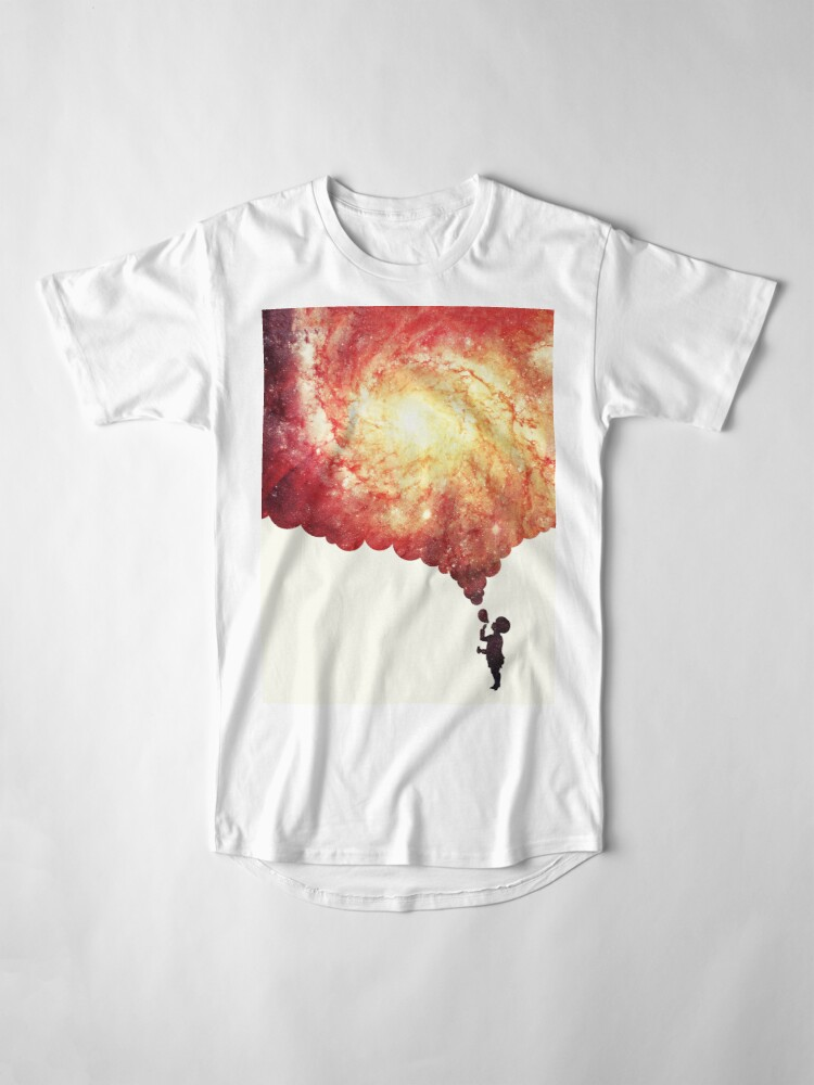 Alternate view of The universe in a soap-bubble! Long T-Shirt