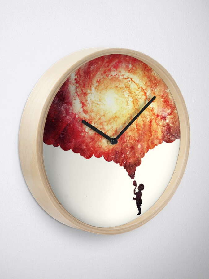 Alternate view of The universe in a soap-bubble! Clock