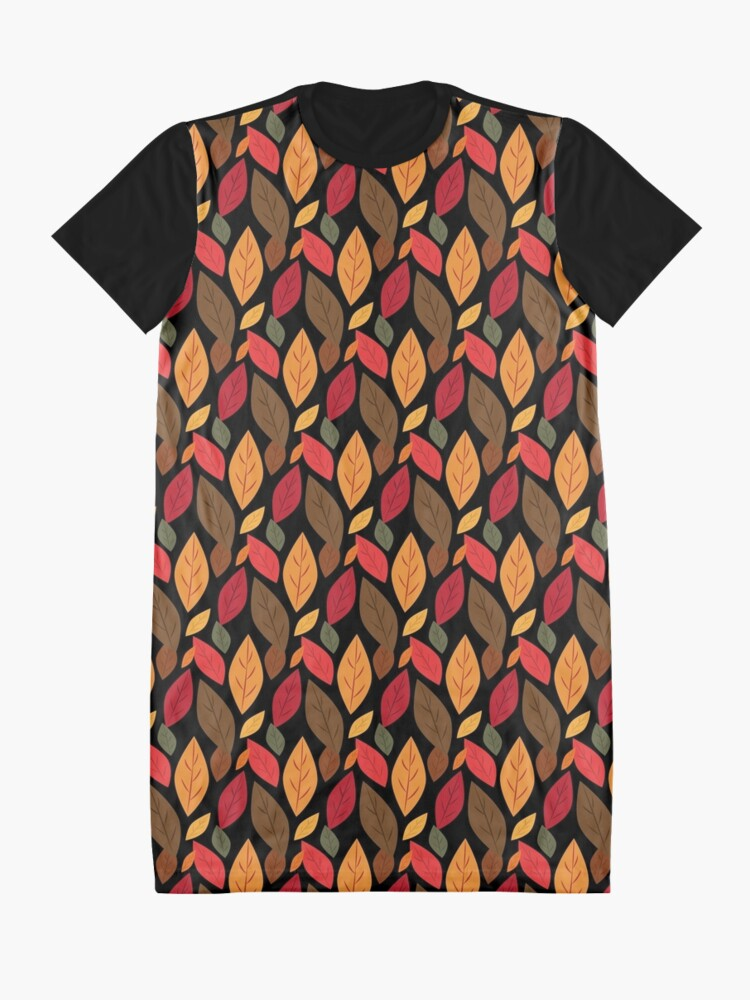 Alternate view of Autumn Leaves Graphic T-Shirt Dress