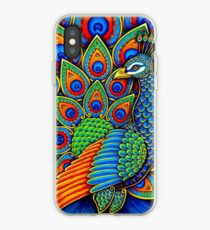 Colorful Paisley Peacock Bird iPhone Case
