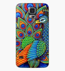Funda/vinilo para Samsung Galaxy Pájaro colorido del arco iris del pavo real de Paisley