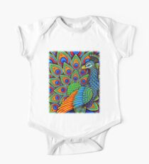 Colorful Paisley Peacock Bird Kids Clothes