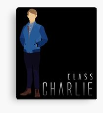 BBC Class: Charlie Smith Silhouette (from Doctor Who) Canvas Print