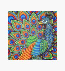 Colorful Paisley Peacock Bird Scarf