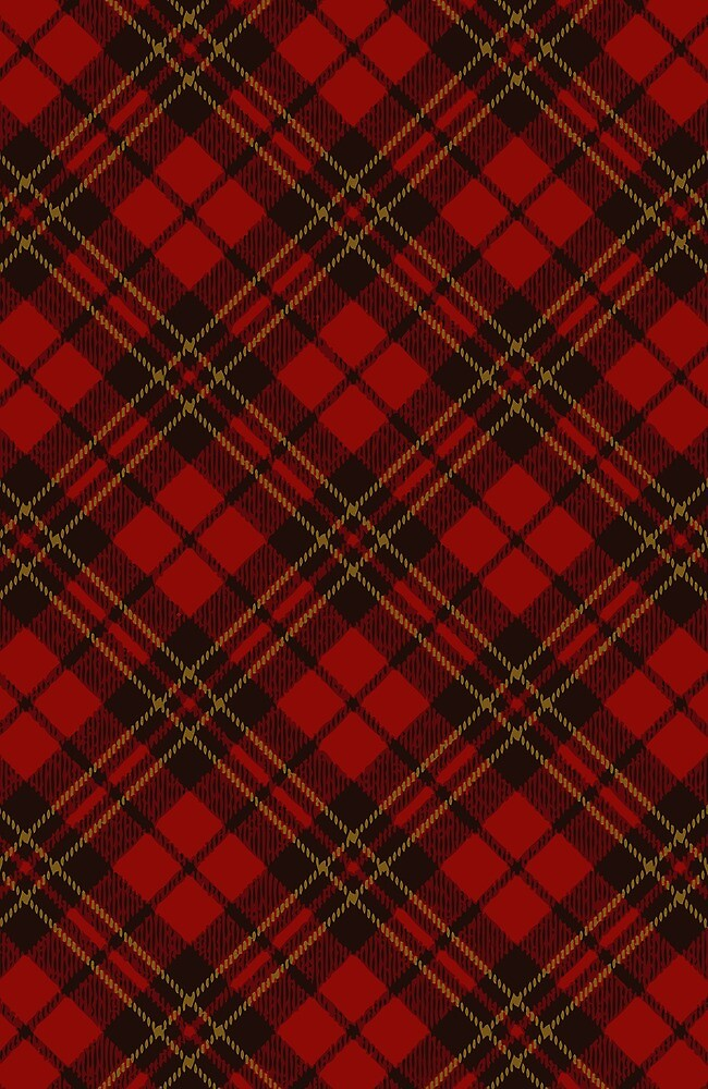 Adorable Red Christmas tartan pattern by PLdesign