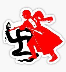 Death to Nazi Beasts! - Anti-Nazi Sticker