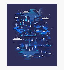 Midnight Blue Photographic Print