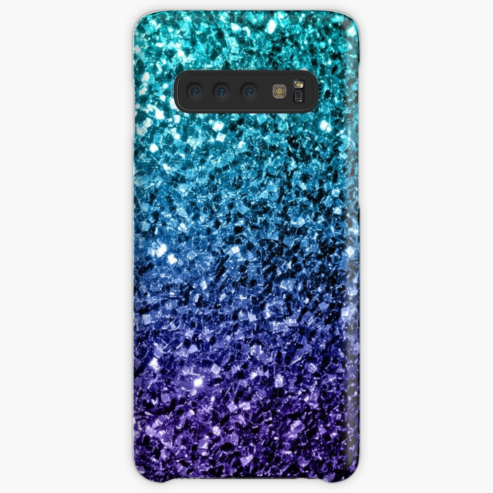 Beautiful Aqua blue Ombre glitter sparkles  Cases & Skins for Samsung Galaxy