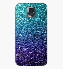 Beautiful Aqua blue Ombre glitter sparkles  Case/Skin for Samsung Galaxy