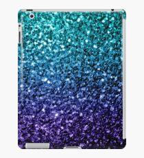 Beautiful Aqua blue Ombre glitter sparkles  iPad Case/Skin