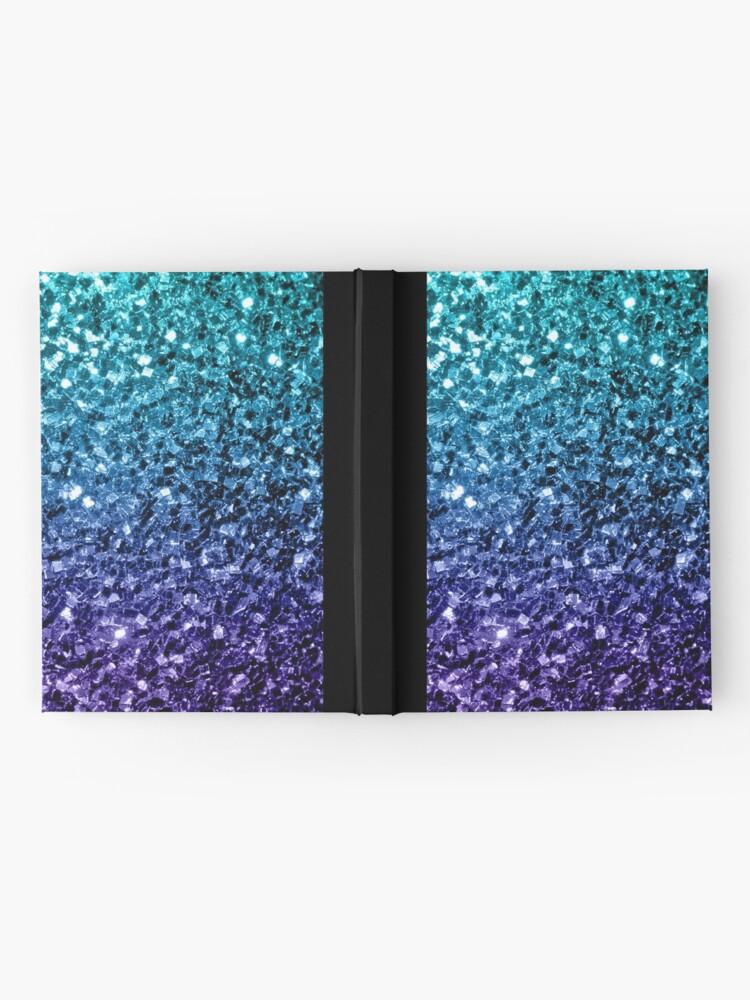 Alternative Ansicht von Wunderschönes Aqua Blue Ombre Glitter funkelt Notizbuch
