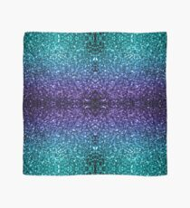 Beautiful Aqua blue Ombre glitter sparkles  Scarf