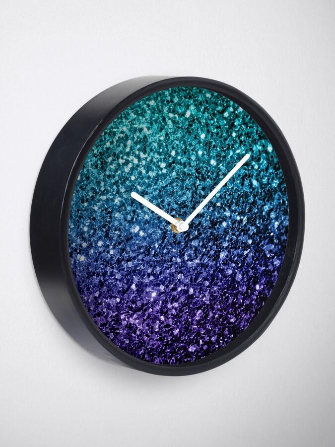 Alternative Ansicht von Wunderschönes Aqua Blue Ombre Glitter funkelt Uhr