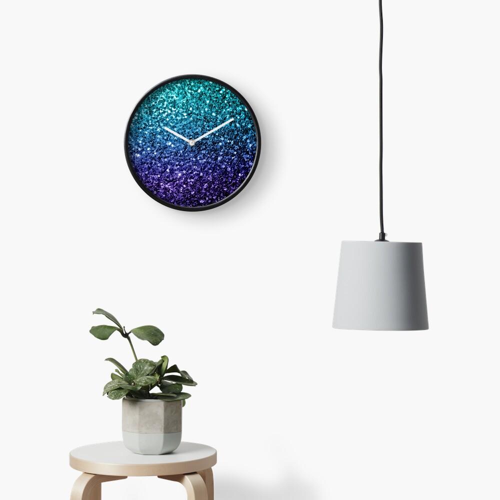 Wunderschönes Aqua Blue Ombre Glitter funkelt Uhr