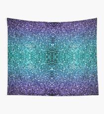 Wunderschönes Aqua Blue Ombre Glitter funkelt Wandbehang