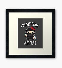 Martial Artist Little Ninja Artist Paint Cute Kawaii Framed Print