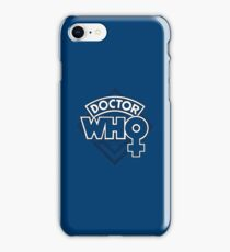 Classic Doctor Who Female Doctor Logo - 13th Doctor - Jodie Whittaker iPhone Case/Skin