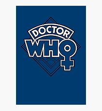 Classic Doctor Who Female Doctor Logo - 13th Doctor - Jodie Whittaker Photographic Print