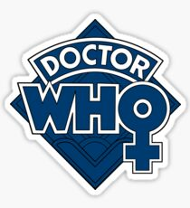 Classic Doctor Who Female Doctor Logo - 13th Doctor - Jodie Whittaker Sticker