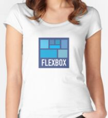 CSS Flexbox Women's Fitted Scoop T-Shirt