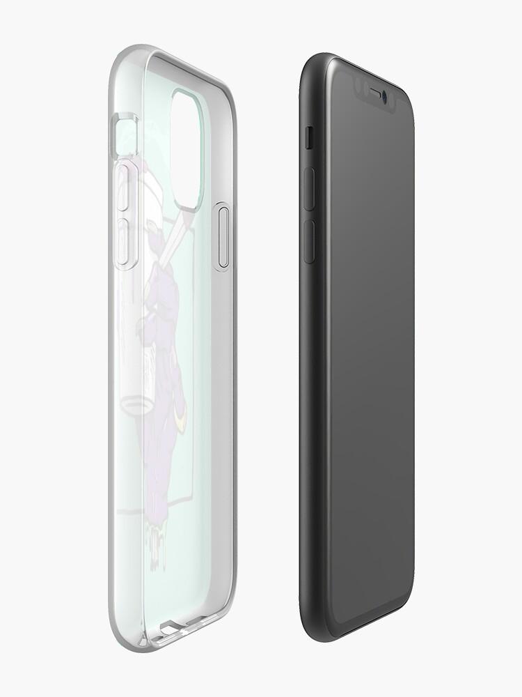 Coque iPhone «Purple Monster», par BOKKABOOM