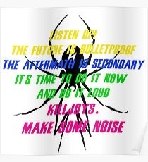 Killjoys, Make Some Noise - My Chemical Romance Poster