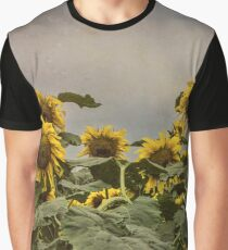 Scraggly Sunflowers Graphic T-Shirt