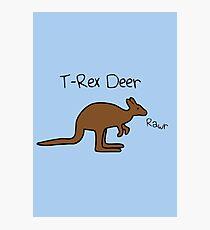 Kangaroos Are T-Rex Deer Photographic Print