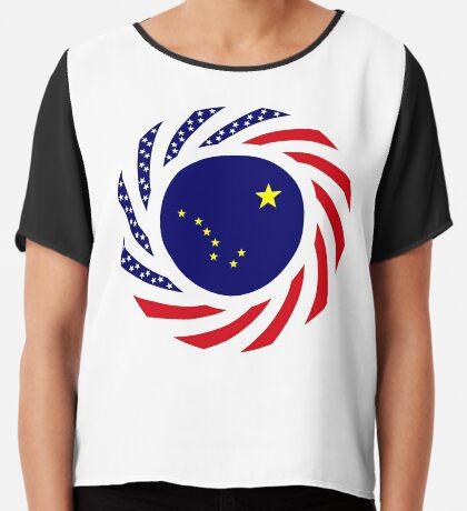 Alaskan Murican Patriot Flag Series Chiffon Top