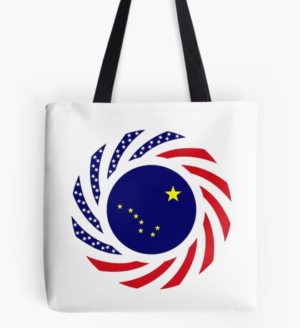 Alaskan Murican Patriot Flag Series Tote Bag