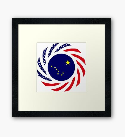 Alaskan Murican Patriot Flag Series Framed Print