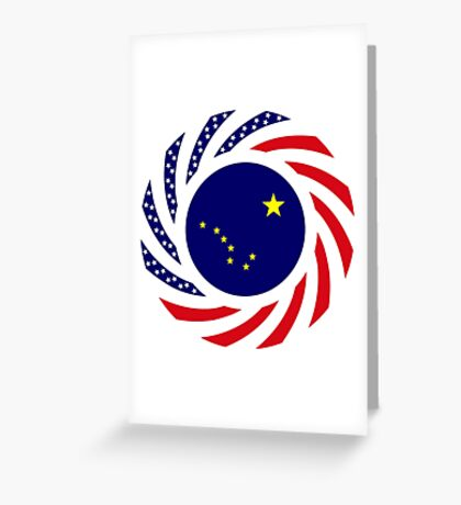 Alaskan Murican Patriot Flag Series Greeting Card