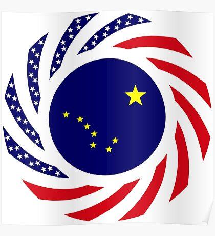 Alaskan Murican Patriot Flag Series Poster