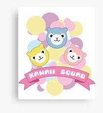 Kawaii Squad Alpaca Pastel Arpakasso Cute Pixel Canvas Print